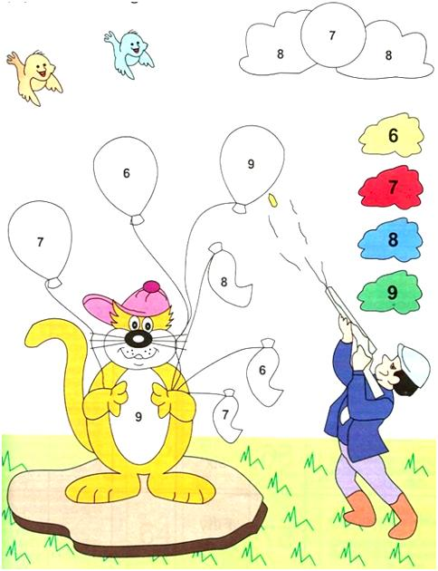 Coloring using Number Code