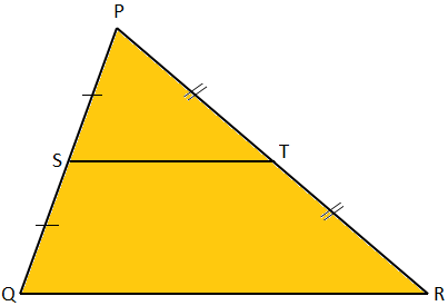 Midpoint Theorem Diagram