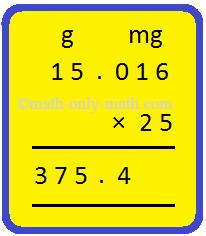 Multiplication - Measurements