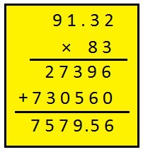 Multiplication of Decimal Numbers