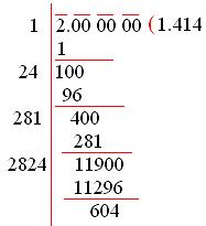 Square Root of Numbers that are Not Perfect Squares | Using Long ...