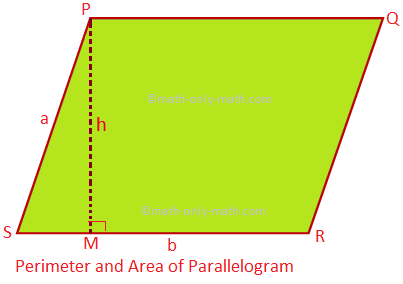 Perimeter and Area of Parallelogram