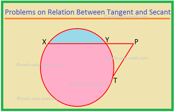Problems on Relation Between Tangent and Secant