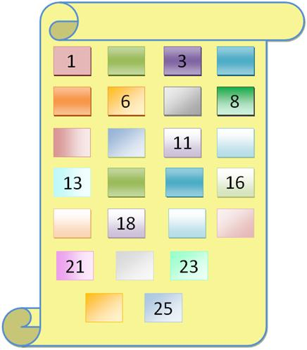 Missing Numbers from 1 to 25