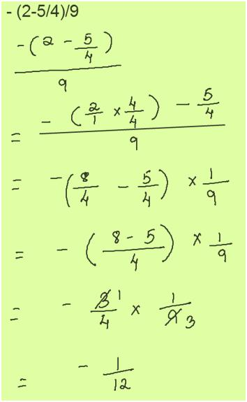 Simplification of Fraction