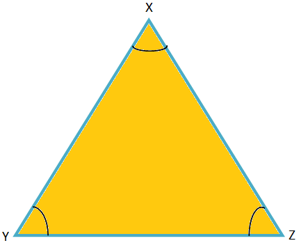 Three Angles of an Equilateral Triangle