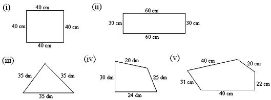 Worksheet on Perimeter of a Figure – Math Perimeter Worksheets
